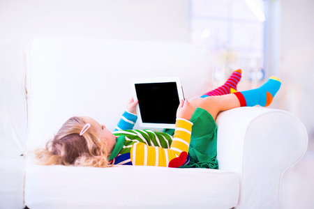 child learning with a tablet