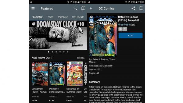best tablet for reading comics dc comics