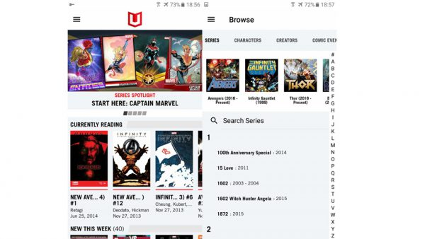 marvel unlimited app for reading comics