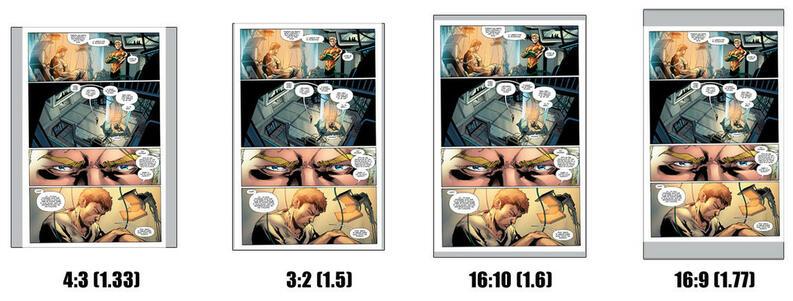 best tablet for reading comics aspect ratio comparison picture