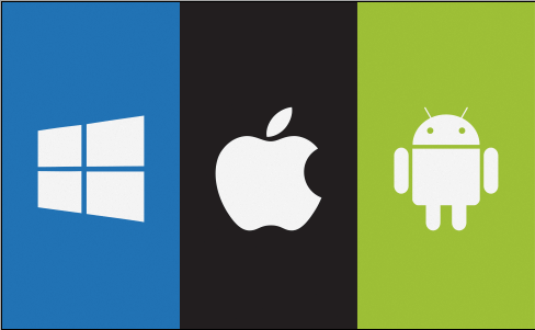Android, iOS and Windows OS for tablets
