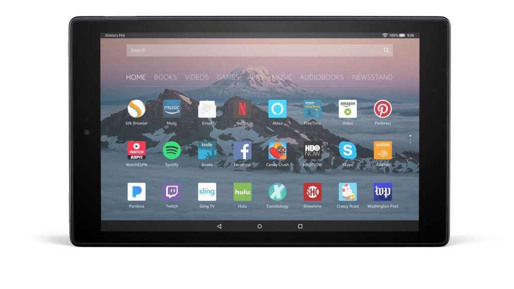 black fire hd 10 tablet front