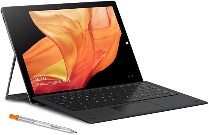 chuwi ubook tablet with keyboard and stylus